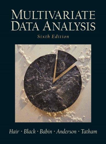 9780130329295: Multivariate Data Analysis (6th Edition)