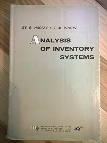 9780130329530: Analysis of Inventory Systems