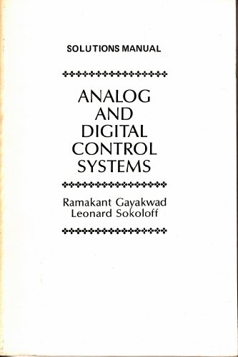 9780130330369: Analog and Digital Control Systems (Solutions Manual)