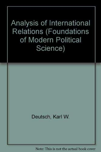 9780130332172: Analysis of International Relations (Foundations of Modern Political Science)