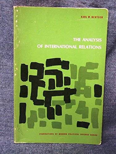 9780130332417: Analysis of International Relations (Foundations of Modern Political Science)