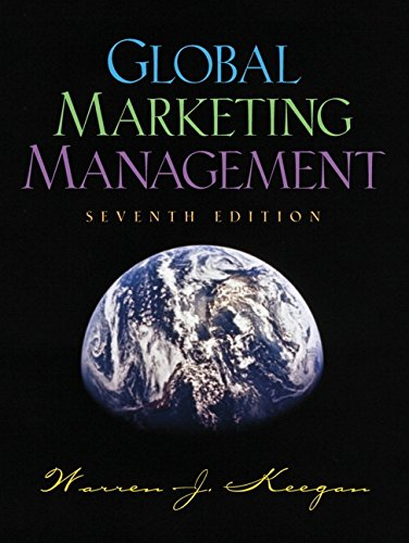 9780130332714: Global Marketing Management (7th Edition)