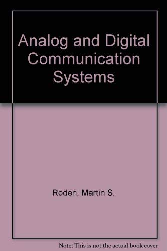 9780130333254: Analog and Digital Communication Systems
