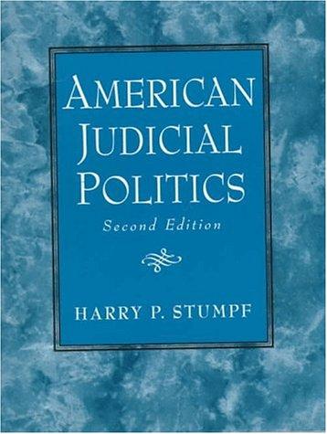 9780130334657: American Judicial Politics (2nd Edition)