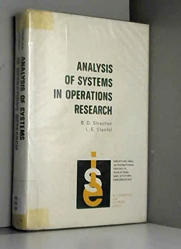 9780130334985: Analysis of Systems in Operations Research (Prentice-Hall international series in industrial and systems engineering)