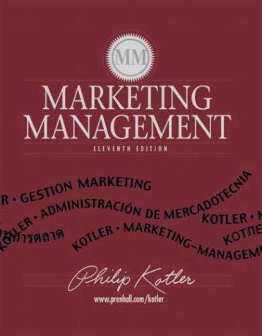 9780130336293: Marketing Management