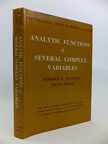 9780130336620: Analytic Functions of Several Complex Variables