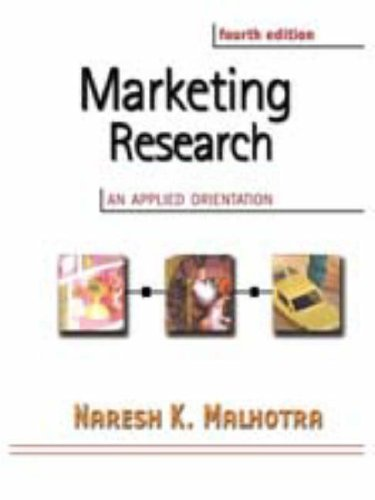 9780130337160: Marketing Research: An Applied Orientation with SPSS