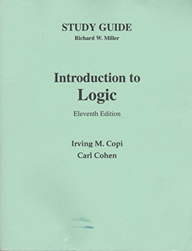 9780130337375: Study Guide: Introduction to Logic, 11th Edition