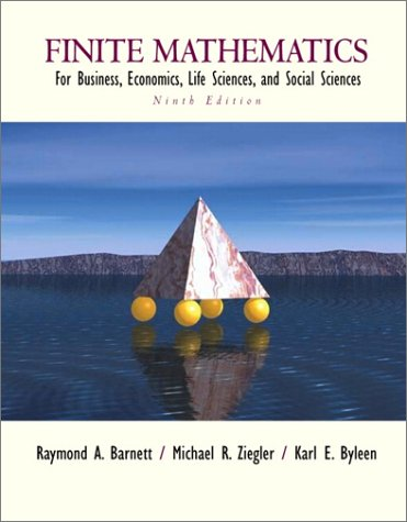 9780130338402: Finite Mathematics for Business, Economics, Life Sciences and Social Sciences