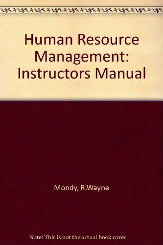 9780130340023: Human Resource Management: Instructors Manual