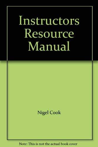 9780130340207: Instructors Resource Manual