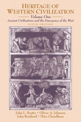 9780130341273: Heritage of Western Civilization, Volume I: Ancient Civilizations and the Emergence of the West (9th Edition)