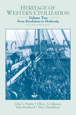 9780130341280: Heritage of Western Civilization, Volume 2 (From Revolutions to Modernity) (9th Edition)