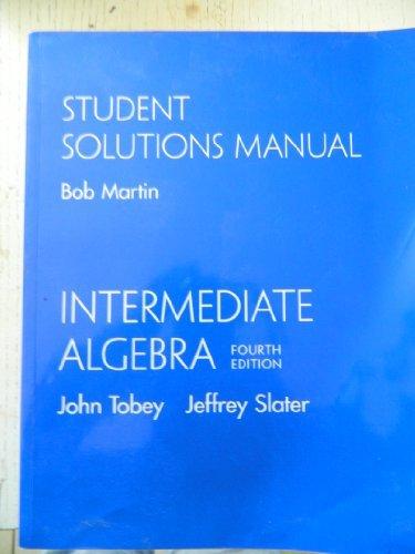 9780130342010: Intermediate Algebra: Student Solutions Manual