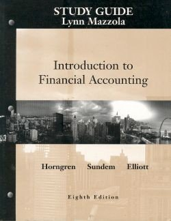 9780130342959: Introduction to Financial Accounting: Student Guide
