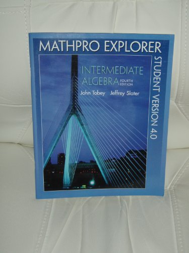 9780130343222: Mathpro Explorer - Introductory and Intermediate Algebra for College Students - Student Version 4.0