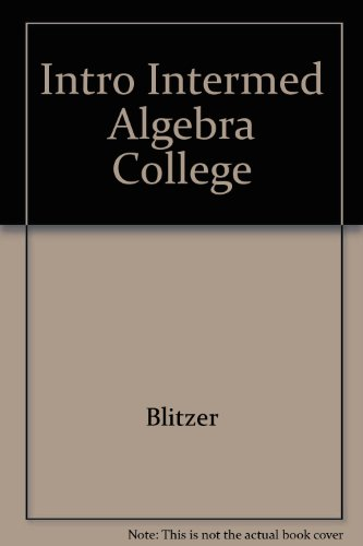9780130343277: Student Solutions Manual for Introductory and Intermediate Algebra for College Students