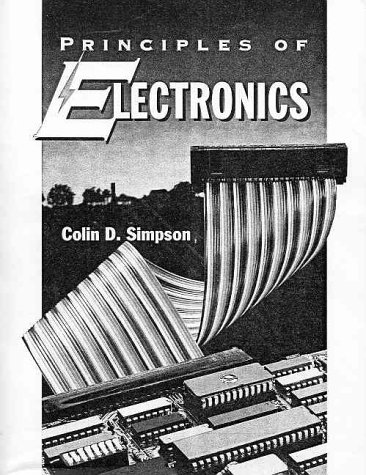 Principles of Electronics 9780130344069 One of the most comprehensive, clearly written books on electronic technology, Simpon's invaluable guide offers a concise and practical overview of the basic principles, theorems, circuit behavior and problem-solving procedures of this intriguing and fast-paced science. Examines a broad spectrum of topics, such as atomic structure, Kirchhoff's laws, energy, power, introductory circuit analysis techniques, Thevenin's theorem, the maximum power transfer theorem, electric circuit analysis, magnetism, resonance semiconductor diodes, electron current flow, and much more. Smoothly integrates the flow of material in a nonmathematical format without sacrificing depth of coverage or accuracy to help readers grasp more complex concepts and gain a more thorough understanding of the principles of electronics. Includes many practical applications, problems and examples emphasizing troubleshooting, design, and safety to provide a solid foundation in the field of electronics. An ideal reference source for electronic engineering technicians and those involved in the electronic technology field.