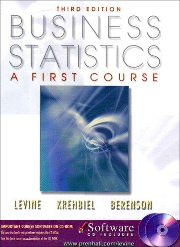 9780130348272: Business Statistics, a First Course