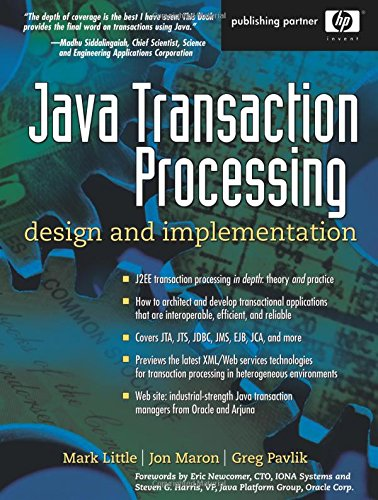 9780130352903: Java Transaction Processing: Design and Implementation