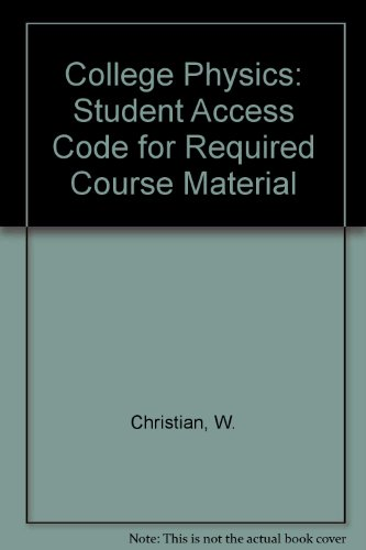 9780130353740: College Physics: Student Access Code for Required Course Material