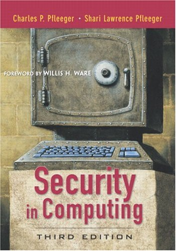 9780130355485: Security in Computing (3rd Edition)
