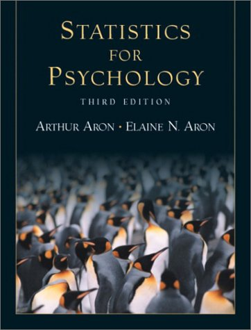9780130358103: Statistics for Psychology (3rd Edition)