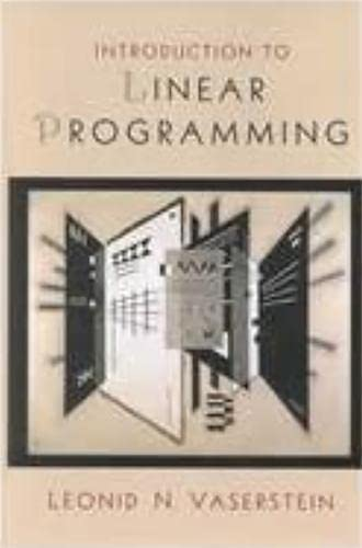 Introduction to linear programming.: Vaserstein, Leonid N.