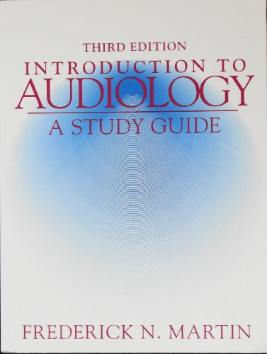 9780130359407: Introduction to Audiology: Study Guide