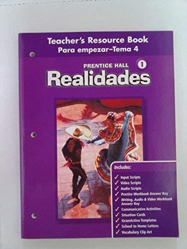 9780130360199: Realidades 1 Teacher's Resource Book Para empezar-Tema 4