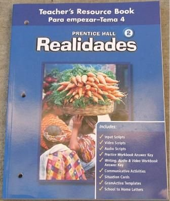 Realidades 2 Teacher's Resource Book Para empezar-Tema: Pearson Prentice Hall