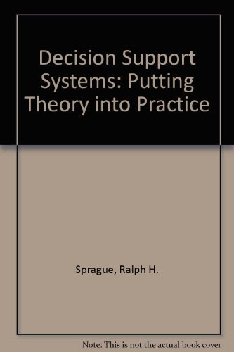9780130362292: Decision Support Systems: Putting Theory into Practice