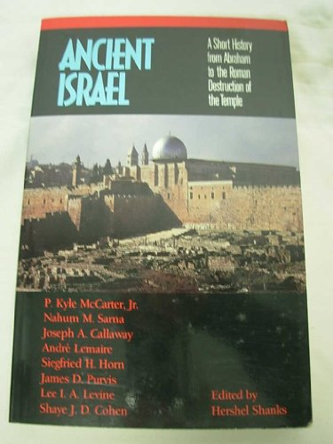 9780130364357: Ancient Israel: A Short History from Abraham to the Roman Destruction of the Temple