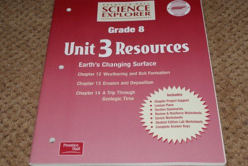 9780130366603: Prentice Hall Science Explorer Tennessee Edition Grade 8 Unit 3 Resources Earth's Changing Surface
