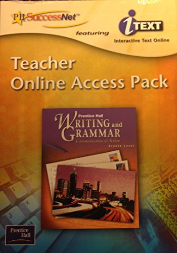 9780130374462: Prentice Hall Writing and Grammar Teacher online Access Pack featuring itext interactive text online ISBN 01303744666