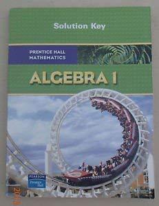 9780130375568: Prentice Hall Algebra Solution Key
