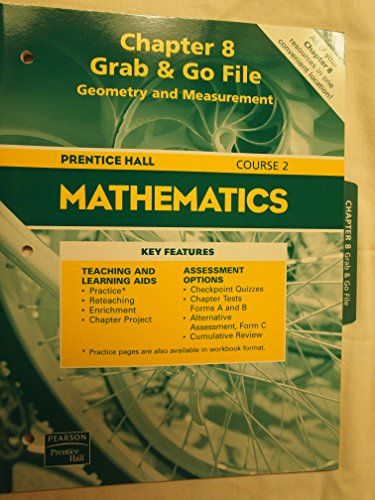 9780130377173: Chapter 8, Grab & Go File, Geometry and Measurement