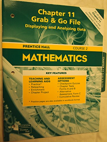 9780130377203: Prentice Hall Mathematics Course 2 Chapter 11 Grab&Go File