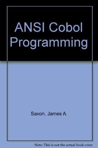 9780130377395: ANSI Cobol Programming