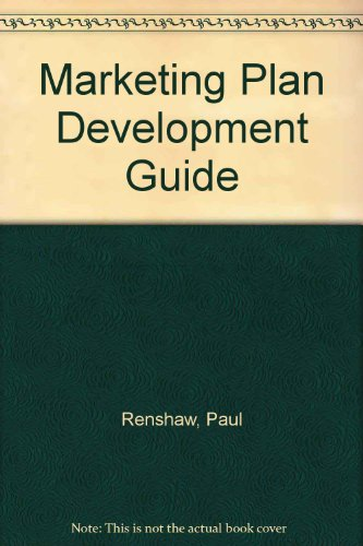 9780130377555: Marketing Plan Development Guide/Book and Disk
