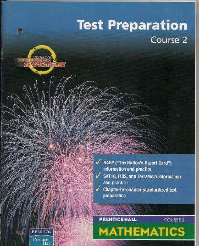 9780130377586: Prentice Hall Middle Grades Maths: Test Prep Workbook Course 2