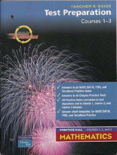 9780130377609: Test Preparation Courses 1-3 Teacher's Guide