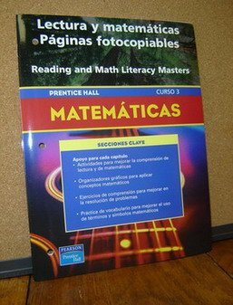 9780130378002: PRENTICE HALL MATH COURSE 3 SPANISH READING AND MATH LITERACY BLACKLINE MASTERS 2004 C