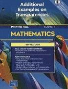 9780130378101: Mathematics Course 1: Additional Examples on Transparencies