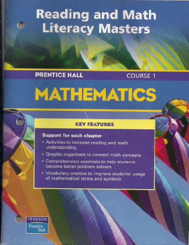 9780130378224: PRENTICE HALL MATH COURSE 1 READING AND MATH LITERACY BLACKLINE MASTERS 2004 C