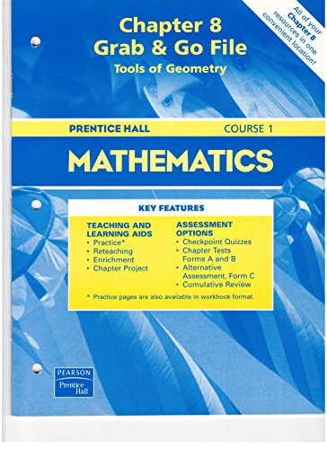 Chapter 8 Grab & Go File Tools of Geometry (Prentice Hall Mathematics Course 1)