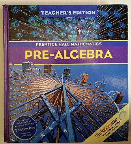 Prentice Hall Mathematics: Pre-Algebra, Teacher's Edition: Charles, Randall I.; Davison, David...