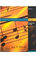 9780130382078: Harmonic Materials in Tonal Music: A Programmed Course (Pt. 2)