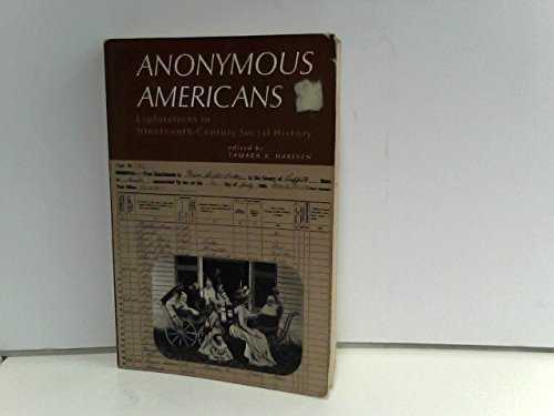 9780130383808: Anonymous Americans: Explorations In Nineteenth-Century Social History